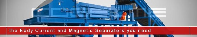 Eddy current separator installed in a complete separation line